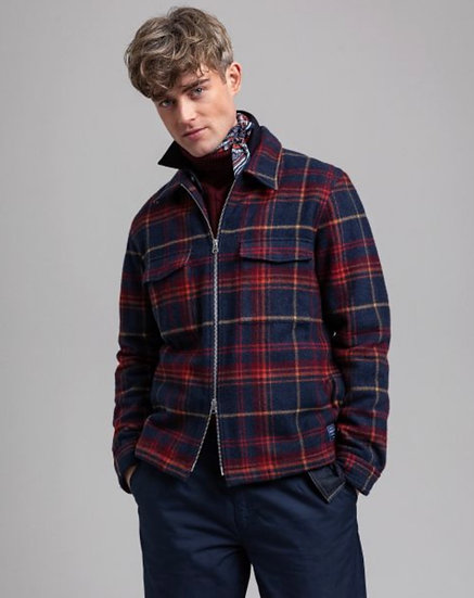 Gant Wool Blend Overshirt Men