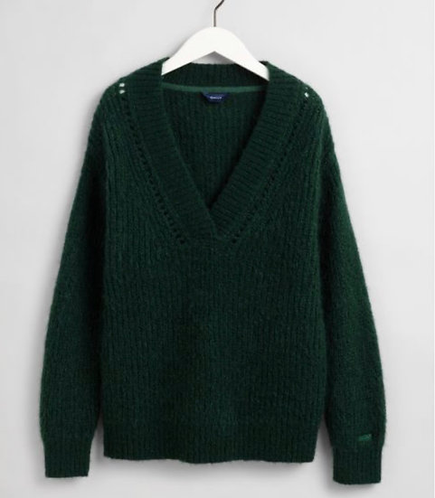 Gant Wool Mohair V-Neck Sweater Woman