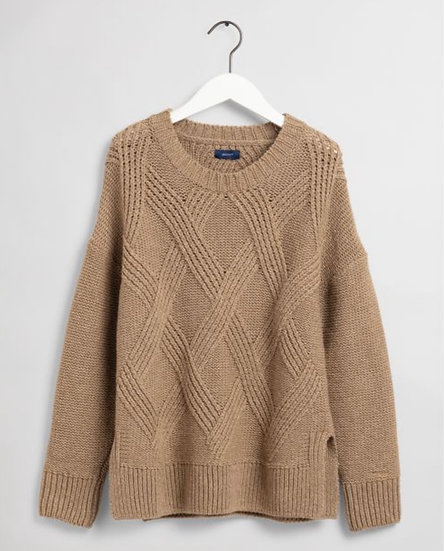 Gant Graphic Cable Crew Sweater Woman