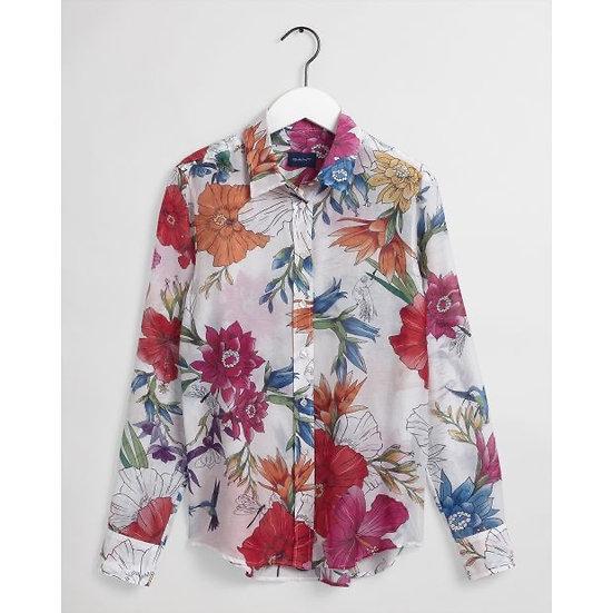 Gant Humming Floral Mönstrad Skjorta