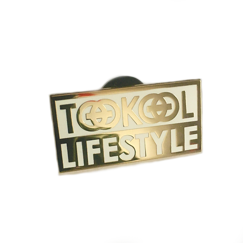 TooKool LIFESTYLE Pin - White and Gold