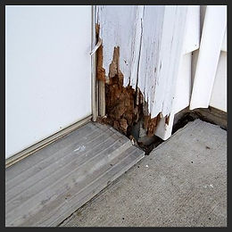 rot repair, gauged wood repair, door frame repair, wood filler, bondo