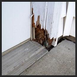 rot repair, gauged wood repair, door frame repair, wood filler, bondo