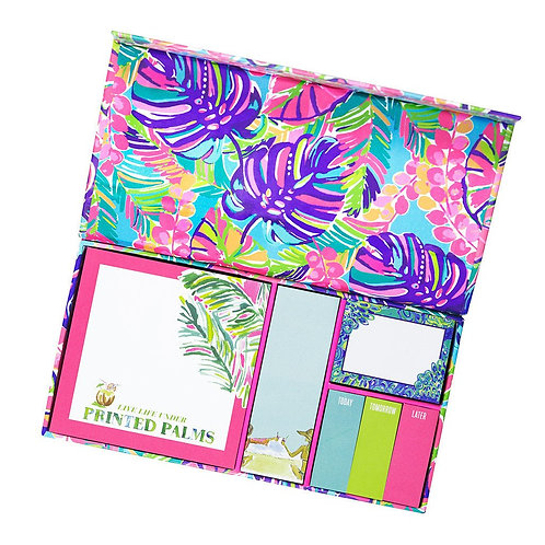 Lilly Pulitzer Sticky Note Set - Exotic Garden