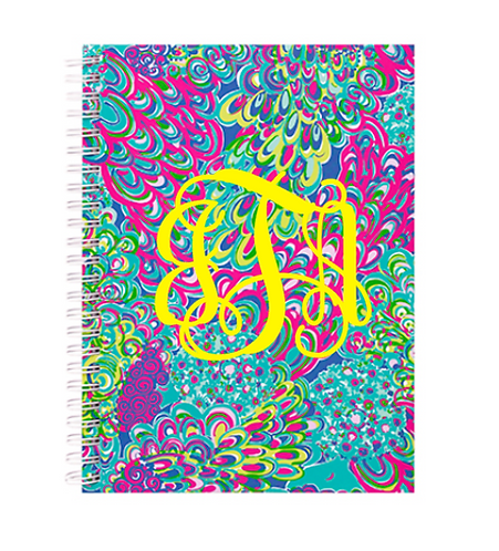 Monogrammed Lilly Pulitzer Mini Notebook