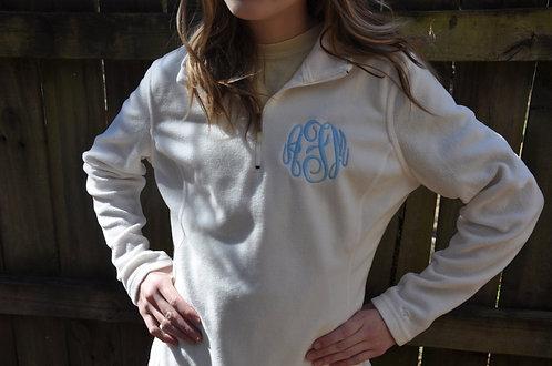 Monogrammed Fleece Pullover for Girls