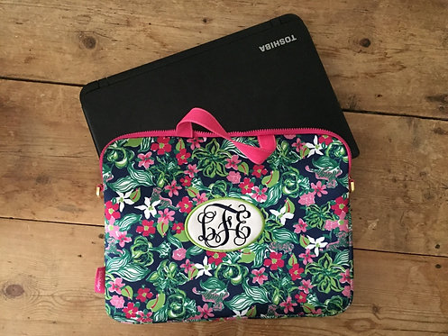 Monogrammed Applique Lilly Pulitzer Laptop Tote