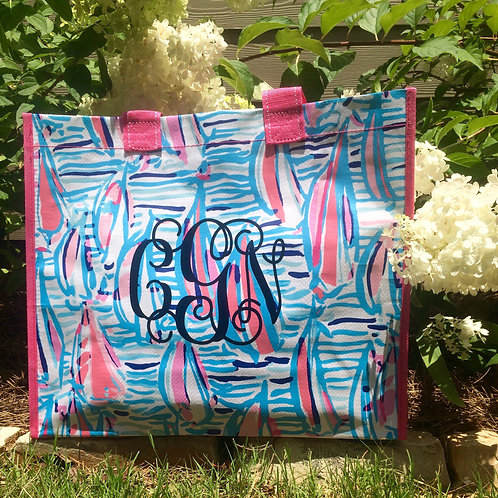 Personalized Lilly Pulitzer Market Bag