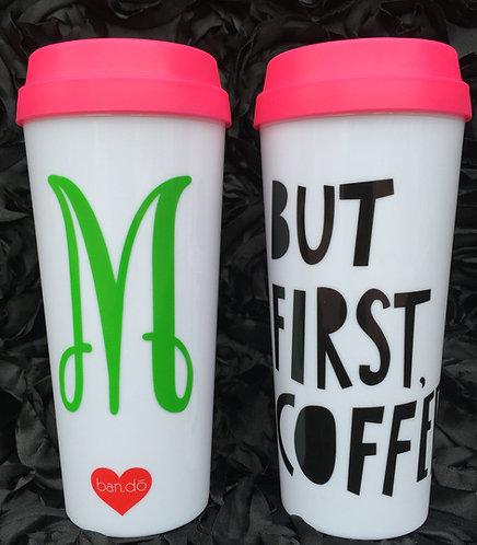 Monogrammed ban.do Hot Stuff Thermal Mug-Coffee