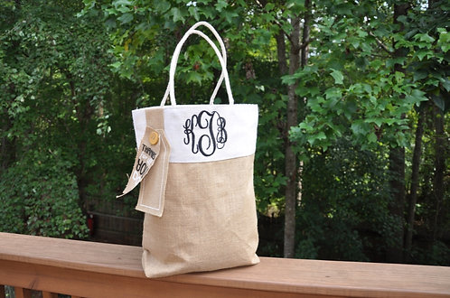 Thanks For All You Do Burlap Tote