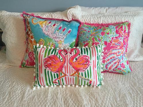 Medium Indoor/Outdoor Pillow - Flamingo 5x5