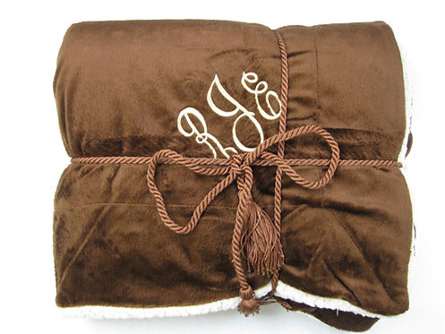 Luxurious Personalized Brown Blanket Throw