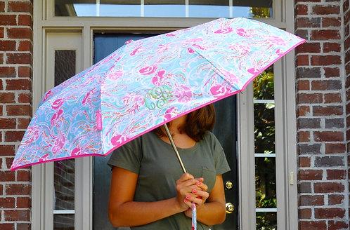 Monogrammed Lilly Pulitzer Umbrella-Jelllies