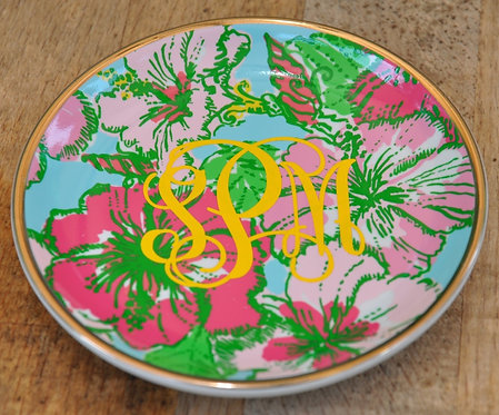 Monogrammed Lilly Pulitzer Ceramic Coaster 4 Set