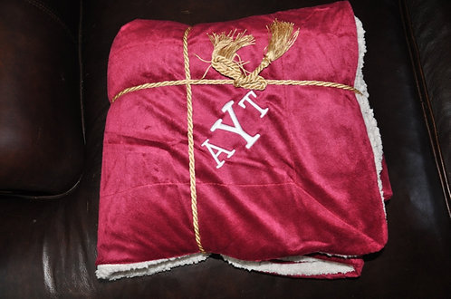 Luxurious Personalized Wine Blanket Throw