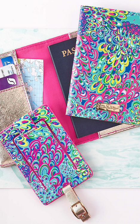 Monogrammed Lilly Pulitzer Luggage Tag & Passport