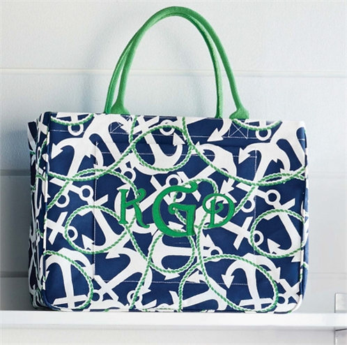 Day Tripper Navy Anchor Tote