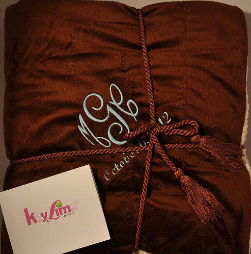Luxurious Personalized Blanket Throw