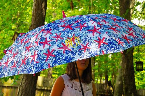 Monogrammed Lilly Pulitzer Golf  Umbrella-She She