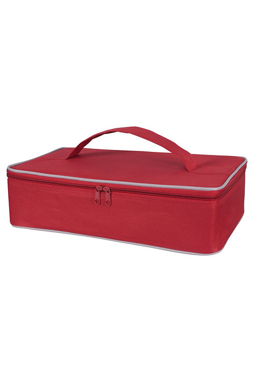 Red Personalized Insulated Casserole Carrier