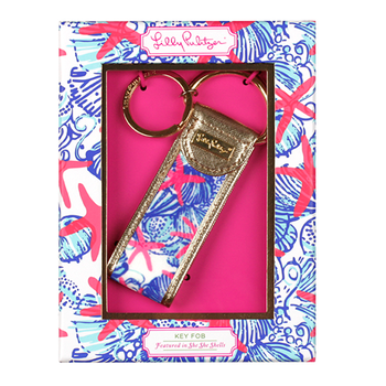 Lilly Pulitzer Key FOB She She Shell