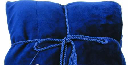 Luxurious Personalized Blue Blanket Throw