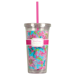Monogrammed Lilly Pulitzer Tumbler with Straw