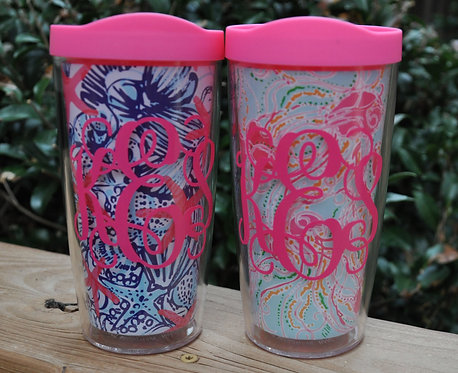 Monogrammed  Lilly Pulitzer Insulated Tumbler Set