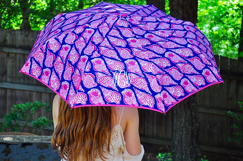 Monogrammed Lilly Pulitzer Umbrella-Cute As Shell