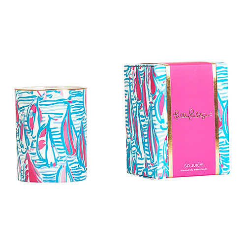 Personalized Lilly Pulitzer Glass Candle