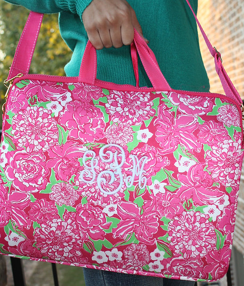 Personalized Lilly Pulitzer Laptop Tote