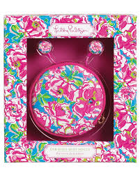 Lilly Pulitzer Ear Bud with Pouch