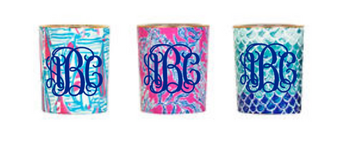 Personalized Lilly Pulitzer Votive Candle Set