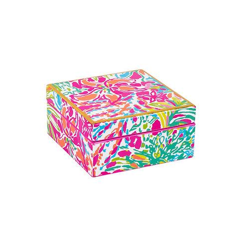Lilly Pulitzer Small Laquer Box- Spot Ya