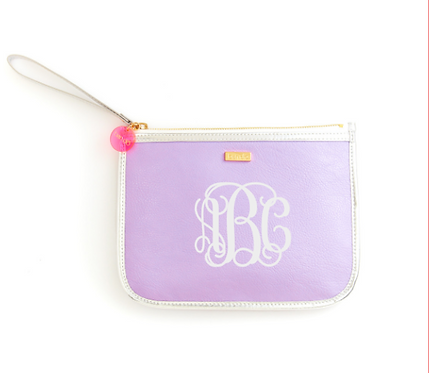 Monogrammed ban.do Fancy Clutch Wristlet