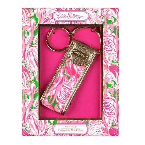 Lilly Pultizer Key FOB Pink Colony