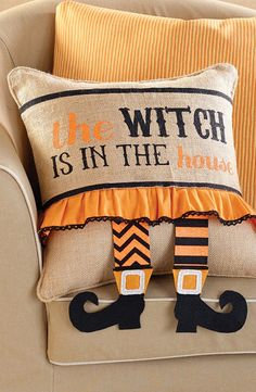 Halloween Witch Legs Pillow Wrap