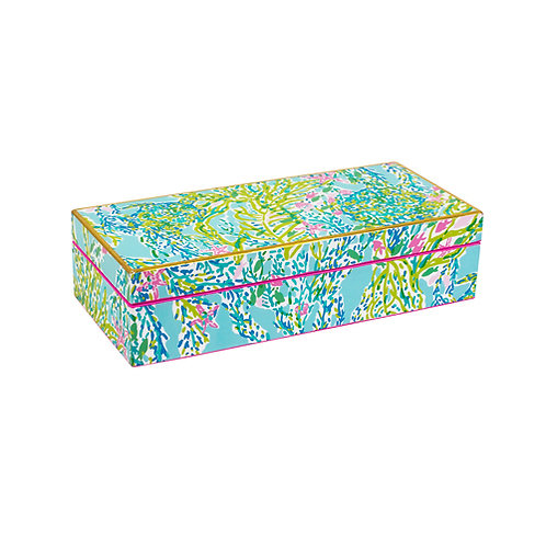 Lilly Pulitzer Medium Laquer Box- Blue Heaven