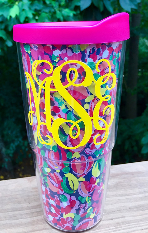 Monogrammed Lilly Pulitzer Double-Wall Tumbler