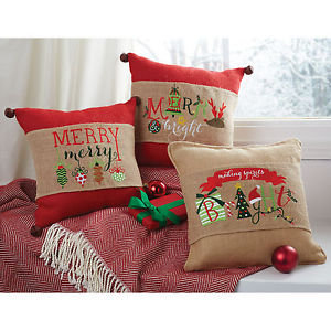 Christmas Word Art Pillow Wraps