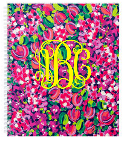 Monogrammed Lilly Pulitzer Large Notebook