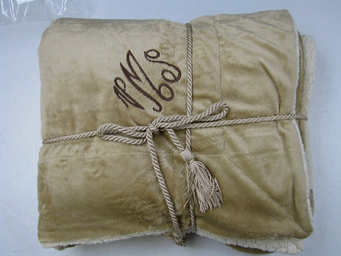 Luxurious Personalized Camel Blanket Throw