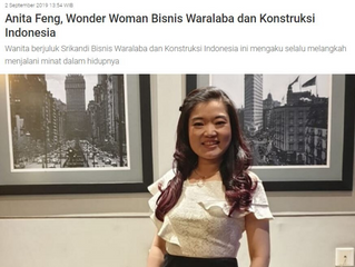 Anita Feng, Wonder Woman Bisnis Waralaba dan Konstruksi Indonesia
