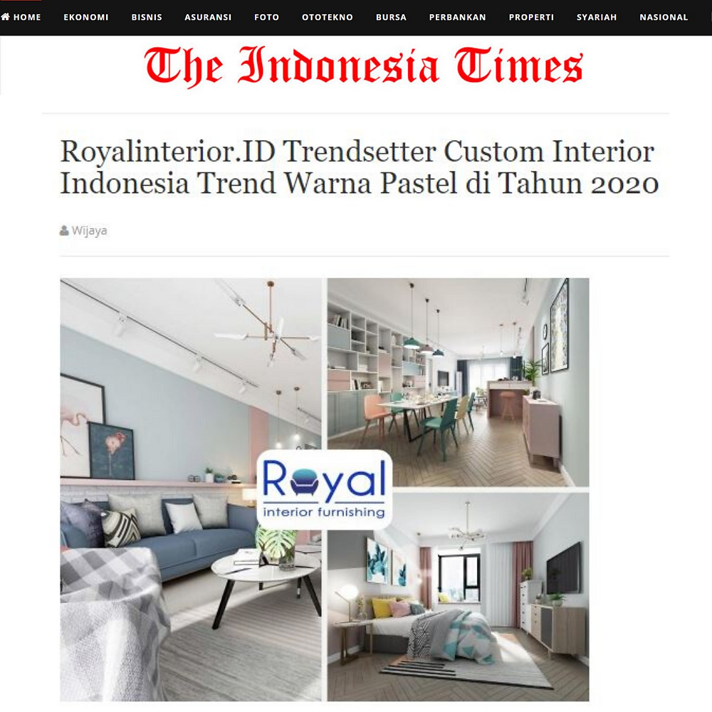 Royal Interior Being Featured by The Indonesia Times