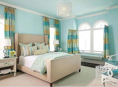 Design Kamar Tidur Cool Blue