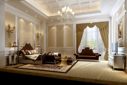 cute-chandeliers-for-bedrooms-and-brown-classic-sofabed-with-white-modern-storage-white