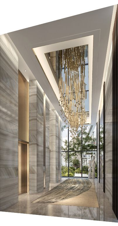 jasa interior lobby white luxury