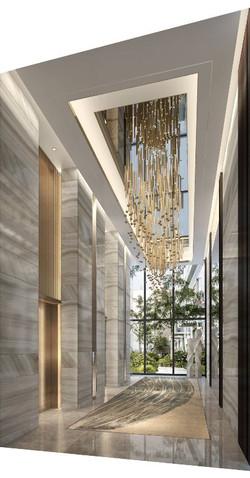 jasa interior lobby white luxury