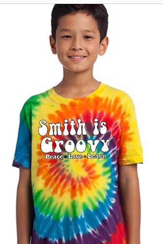 """Smith is Groovy""           classic tie dye t-shirt"