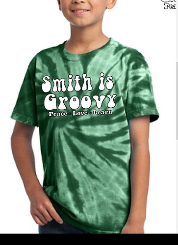 """Smith is Groovy""           green tie dye t-shirt"